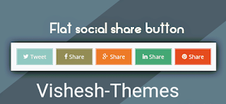 Simple Social Share Button for Blogger