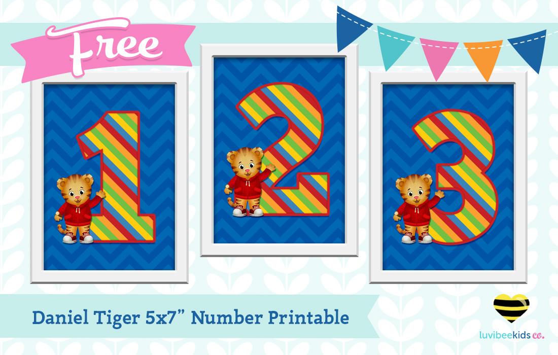 Luvibeekids Co Blog Free Daniel Tiger 5x7 Number Print