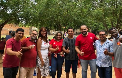Alexandre Assaiante inicia sua campanha prestigiando evento esportivo na Zona Rural.