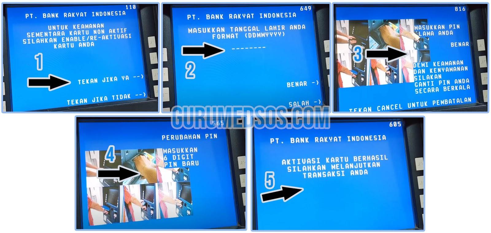 Cara Mengaktifkan Kartu ATM BRI yang Non Aktif/Disable
