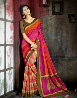 Latest Bhagalpuri Sari Designs dresses 2015