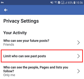 "How Do You make your Facebook ""mobile uploads"" album private"