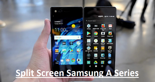 cara split screen hp samsung galaxy a series