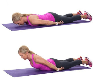 Arms by the side easier variation of the dorsal raise back extension