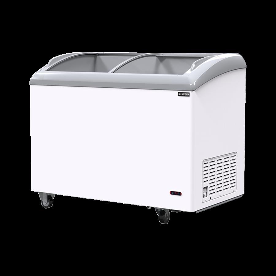 Tủ đông kính cong Sanden intercool SNC-0335 dung tích 450 Lít