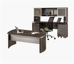 Gray Wood Office Furniture
