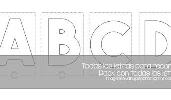 Moldes de letras para imprimir 💯 y recortar grandes (Nuevas)