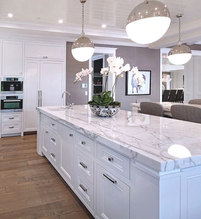 white marble kitchen countertops uk