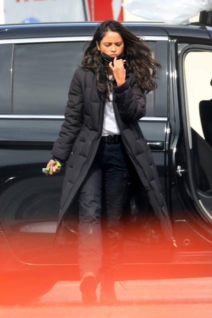 Eiza Gonzalez – on the set of 'Ambulance' in LA