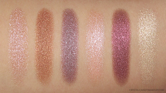 NYX Cosmic Metals Shadow Palette Swatches