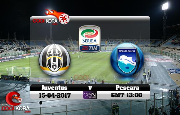 مشاهدة مباراة بيسكارا ويوفنتوس اليوم 15-4-2017 في الدوري الإيطالي