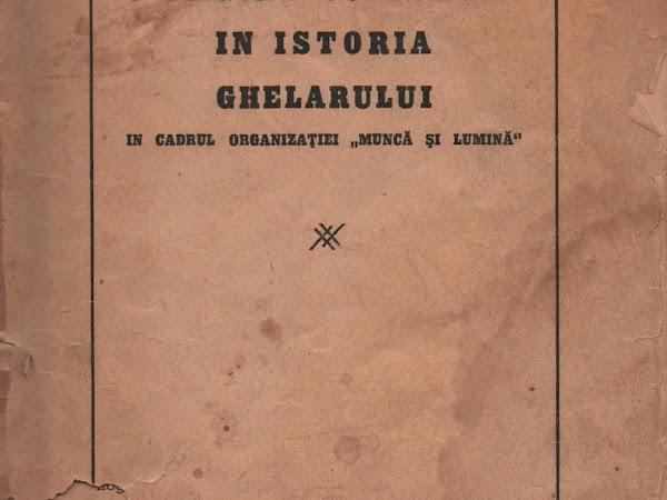Munca si Lumina - O PAGINĂ CULTURALĂ ÎN ISTORIA GHELARULUI