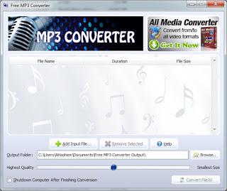 تنزيل برنامج محول الصوتيات Free MP3 Converter
