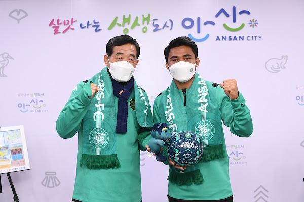 Ansan Greeners FC Resmi Perkenalkan Asnawi Mangkualam