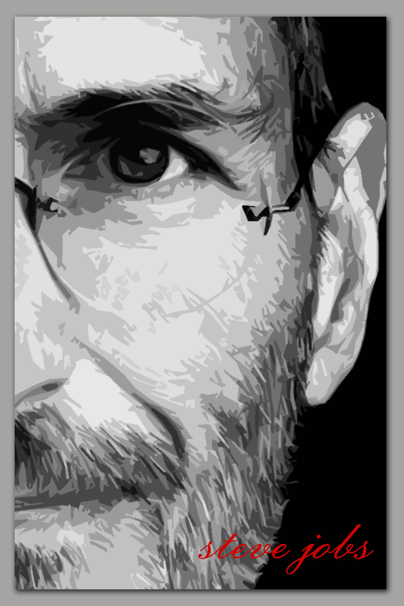 PHOTOSHOP | STEVE JOBS BLACK AND WHITE POSTER - DESIGN WITH