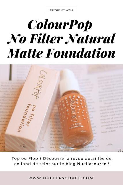 revue avis colourpop no filter natural matte foundation dark 175