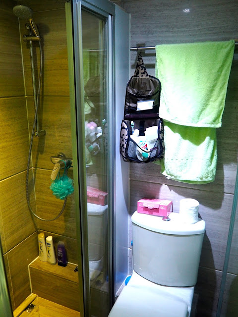Bathroom in my studio apartment in Sham Shui Po, Kowloon, Hong Kong