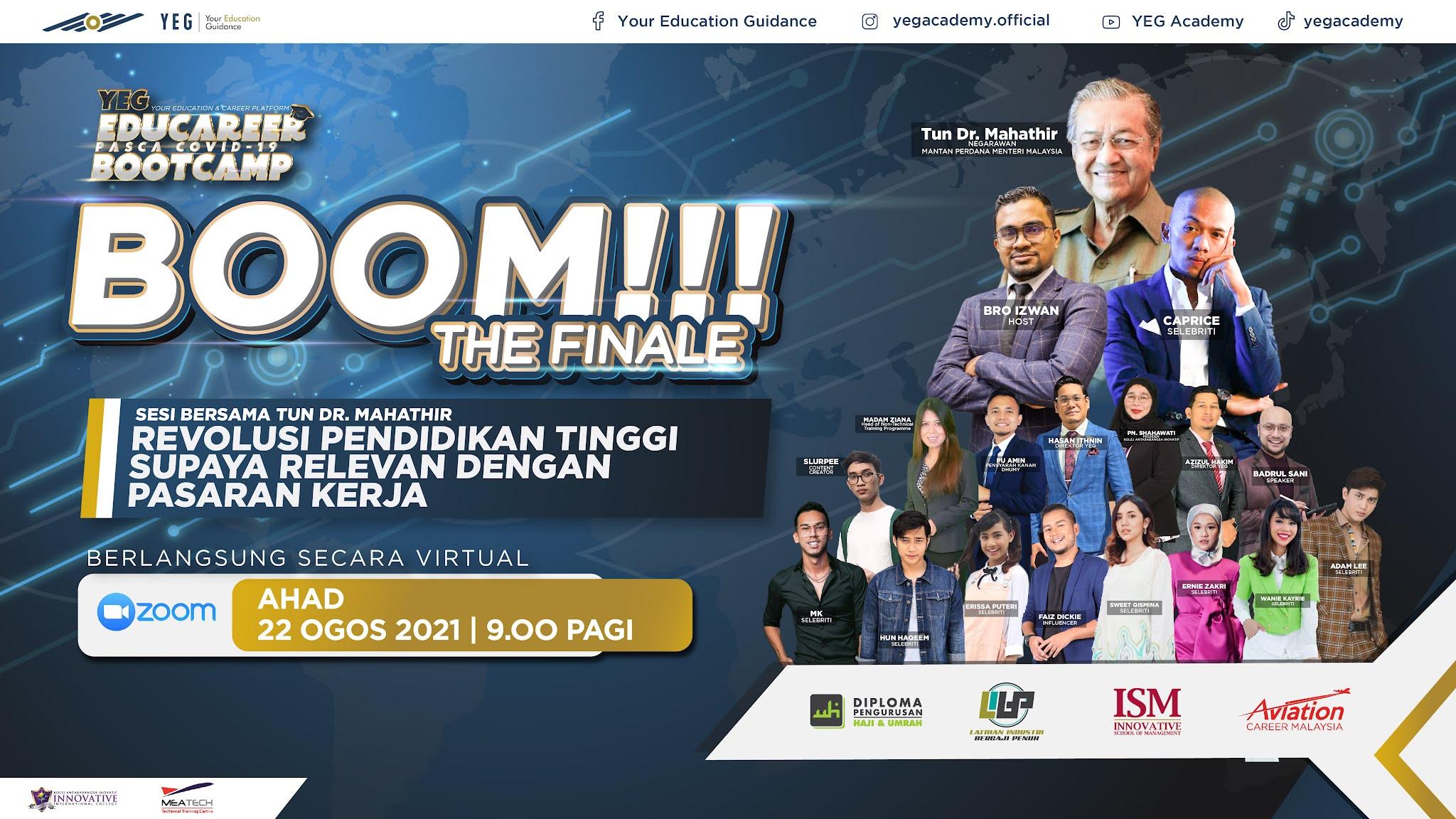 Jangan Salah Pilih Jurusan! Jom Sertai Live YEG Academy 22 Ogos Ini Bersama Tun Mahathir!