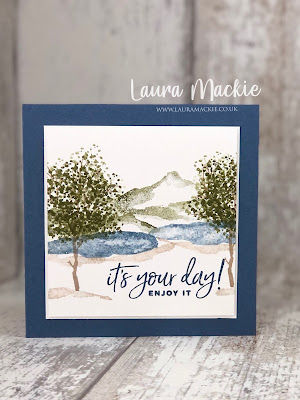 Stampin up Snow Front