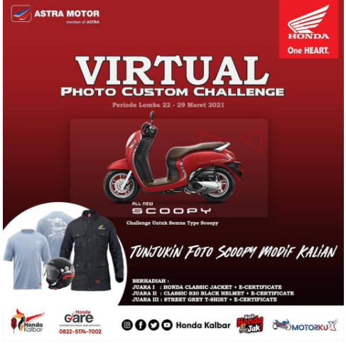 Ayo Ikuti Virtual Photo Custom Challenge dan Menangkan Hadiah dari Honda