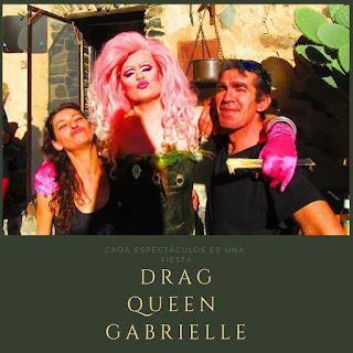 Espectáculo drag queen Gabrielle en Patones de Arriba. Madrid.