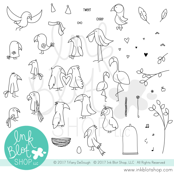 Ink Blot Shop Clear Stamp Set Flopsy Birds