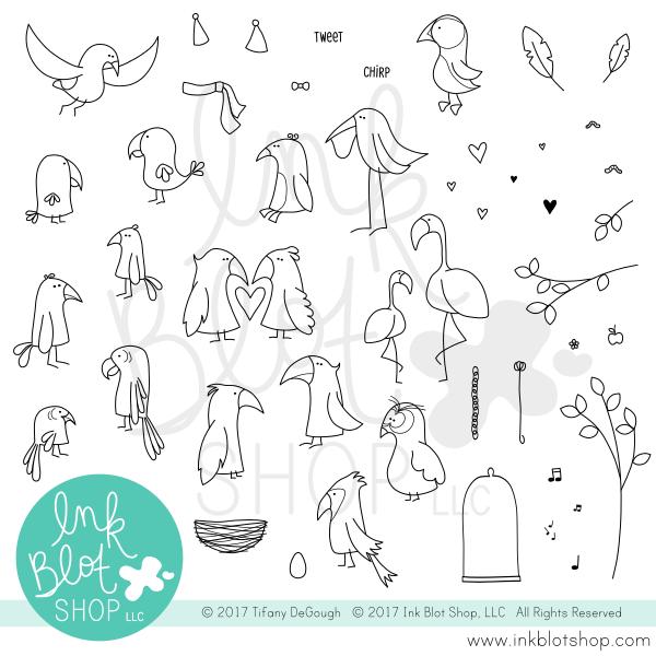 Ink Blot Shop Clear Stamp Set Flopsy Birds