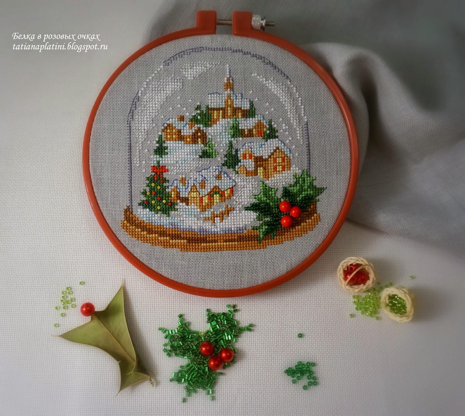 вышивка крестом снежный дом схемы