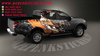 Sticker mobil mitsubishi triton