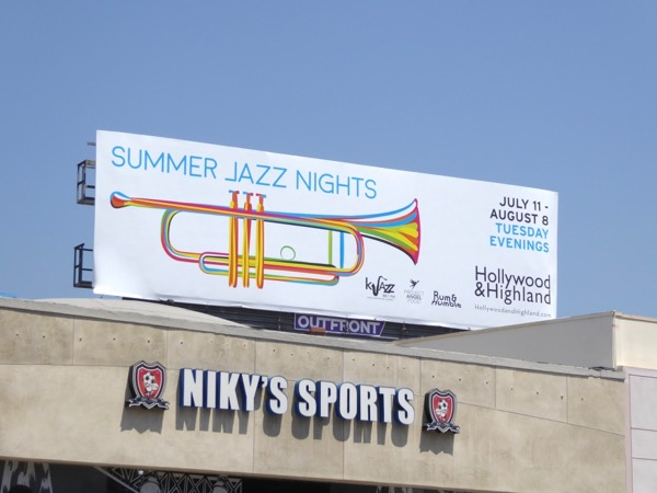 Summer Jazz Nights Hollywood Highland billboard