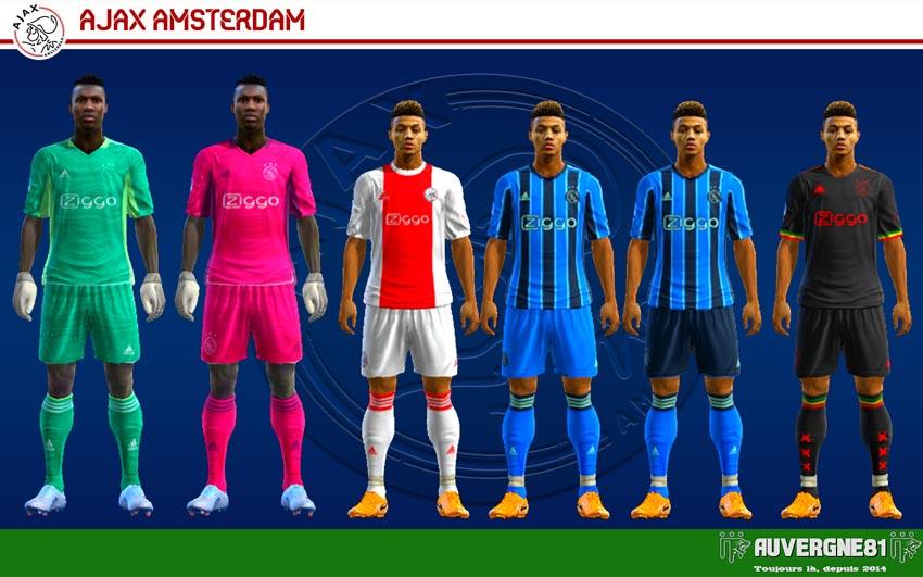 Kits Ajax Amsterdam 2021-2022 For PES 2013