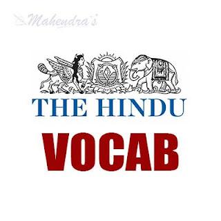 The Hindu Vocabulary ( IBPS Clerk Based) | 17 -11 - 17