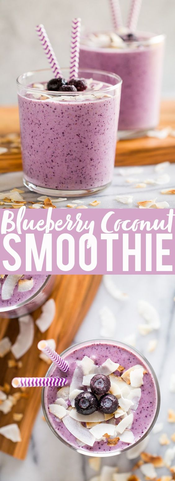 BLUEBERRY BANANA COCONUT SMOOTHIE