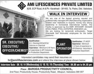 Walk in interview details