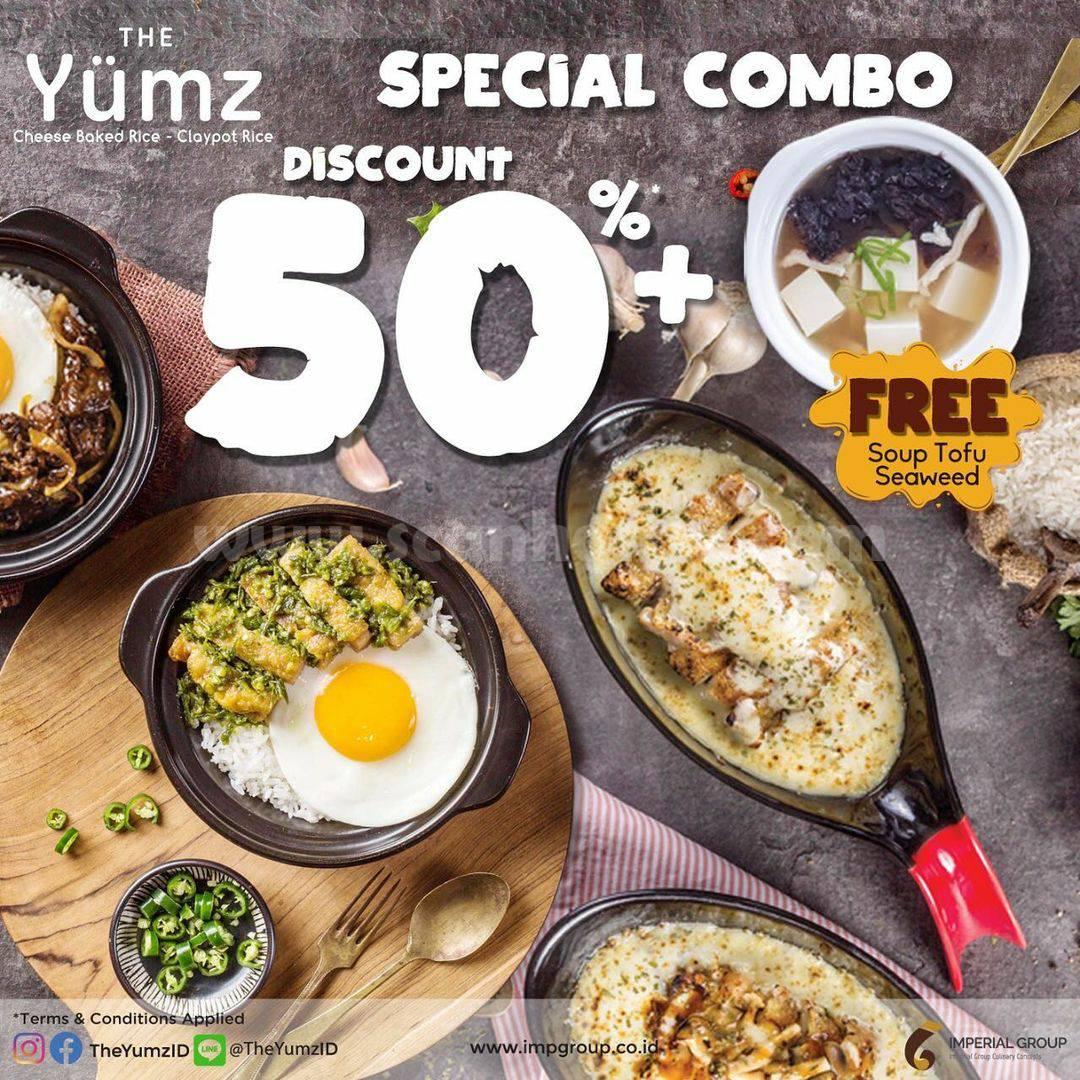 Promo THE YUMZ Special Combo Diskon 50% + Gratis Soup Tofu Seaweed 1
