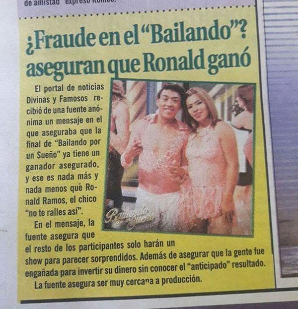 """Ronald Ramos ganador del Bailando por un Sueño"""""""