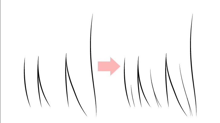 Gambar gumpalan rambut anime realistis