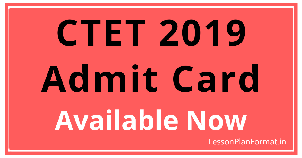 CTET 2019 Admit Card Download