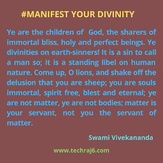 Manifest Your Divinity Quotes By Swami Vivekananda