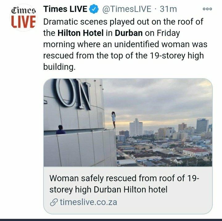 Nellie Tembe Hilton hotel Durban