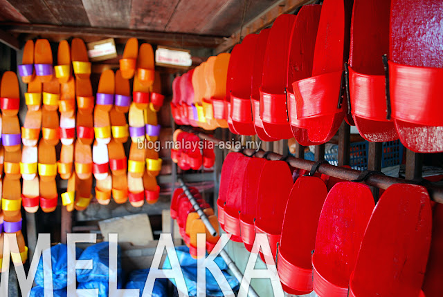 Traditional Chinese clogs from Melaka