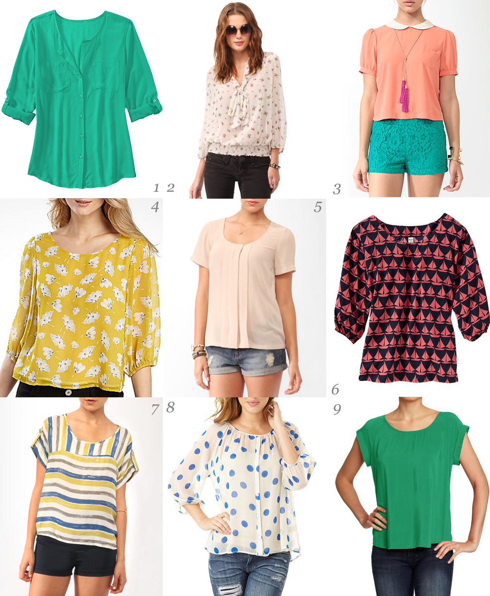 d9b0c3a2b2d41 Über Chic for Cheap: Must Have: Summer Blouses
