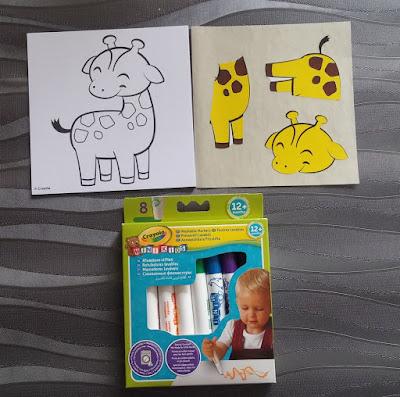 puzzle autocollant crayola