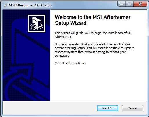 Hướng dẫn cài đặt phần mềm MSI Afterburner 4.6.3 mới nhất trên máy tính b