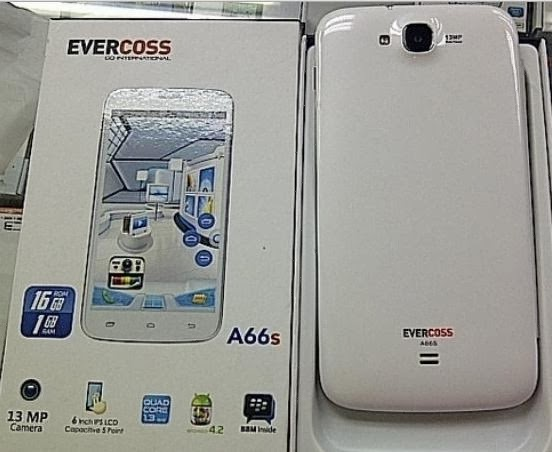 Spesifikasi dan Harga Hp Evercoss A66S Terbaru 2014