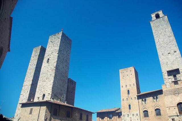 kamienne wieże Toskania, Włochy
