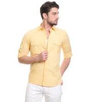 Sarı gömlek kombin