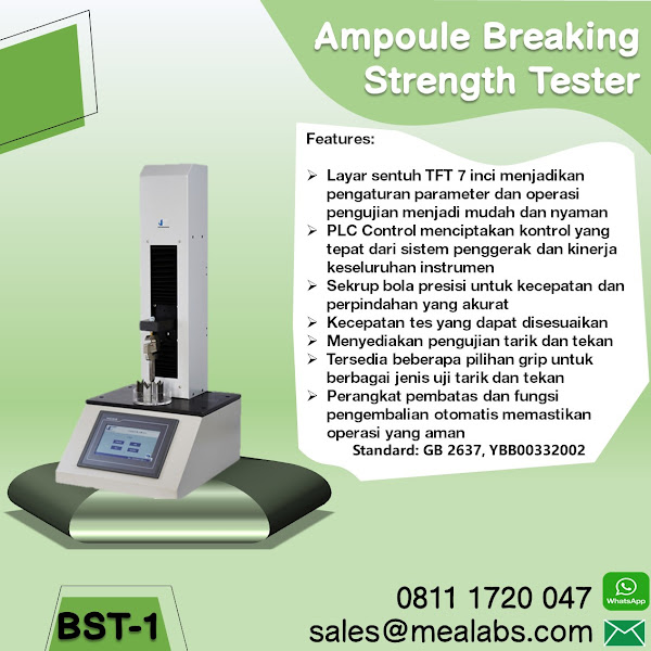 BST-1 Ampoule Breaking Strength Tester
