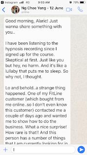 Alaric Ong millionaire hypnosis testimonial