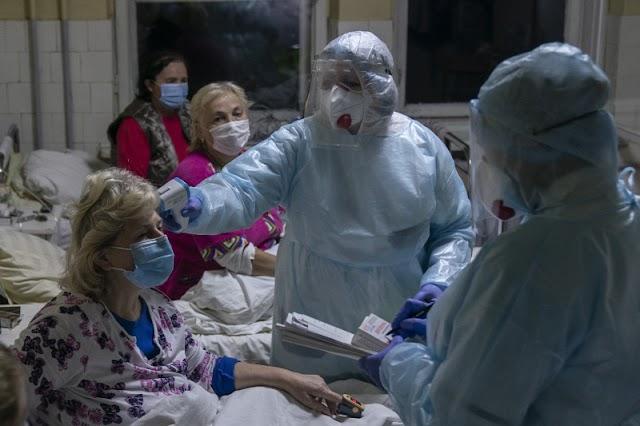 Súlyos ágyhiánnyal küzdenek a kelet-ukrajnai kórházak a koronavírus miatt